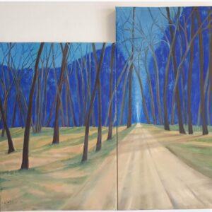 הדרך אל הכחול 65x60 אקריליק