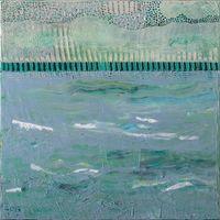 """""""שדות-ים"""" (4), 50X50  אקריליק על בד"""