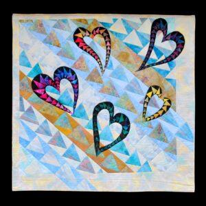 Flying Hearts 114x112cm