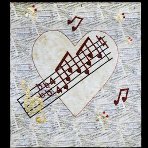 Musical heart 117x124cm
