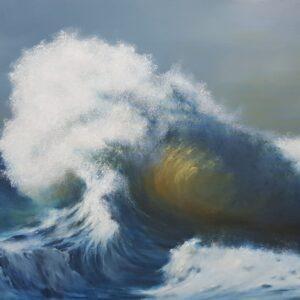 """דניאלה פורת, """"סערה"""", 100X80 שמן על בד  , 052-5568404 danap100@gmail.com"""