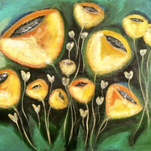 """זהר גרינבוים, """"זהר בצהוב"""", 80X60 אקריליק על בד, 050-2228747 zg7486767@gmail.com"""