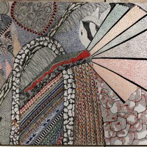 """נעמה בן משה, """"משחקי הכס"""", 50X70 טושים צבעוניים על נייר, 054-4437779 ben_mosh@netvision.net.il"""