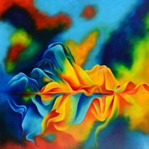 """סגי ארז, """"עלות השחר"""", 92X92 שמן על בד, 058-6252766 sagi@sagiartstudio.com"""
