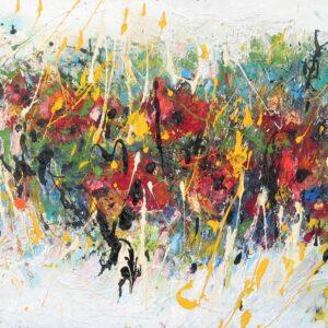 """רחל זיו, """"כלניות"""", 60X80 אקריליק על בד, 052-3366612 rlziv9@gmail.com"""