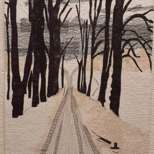 """שושי רימר, """"נוף מושלג"""", 100X70 קווילט, 054-9234764 shoshi.rimer@gmail.com"""