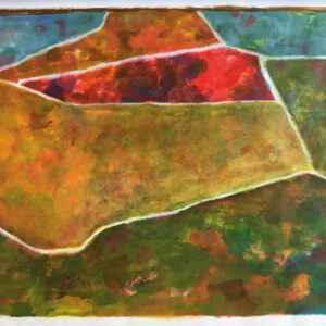 37 acrylic on paperboard 50 X 70 cm